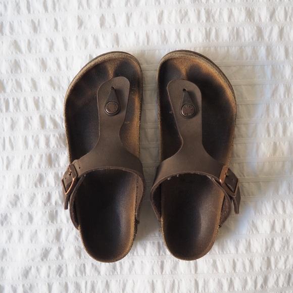USED Birkenstock Kids Girls Gizeh Sandal